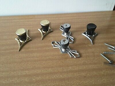 60s VINTAGE  FIVE  CUPBOARD  DRAW handles  KNOBS