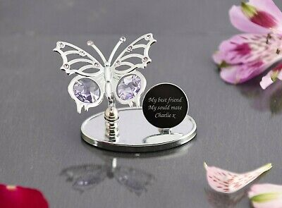 Personalised Crystocraft Butterfly Ornament Mothers Day Birthday Memorial Gifts