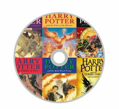 Harry Potter 1-8 Series Complete Book Collection By J.K Rowling On a CD-Disk