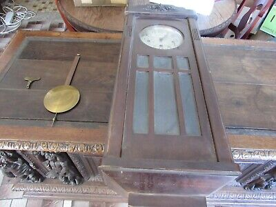 Antique Large Chime Wall Clock 8 Stems 8 Hammers 3 Holes