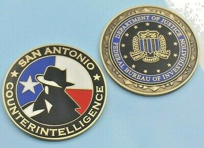 challenge coin  FBI  DOJ FEDERAL BUREAU OF INVESTIGATION TEXAS