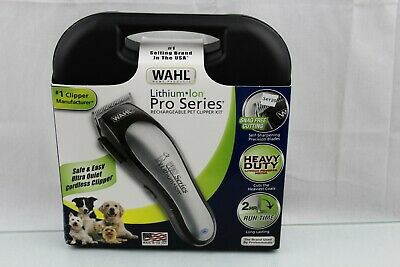Wahl Lithium Ion Pro Series Cordless Rechargeable Dog Grooming Kit - #9766 NOB
