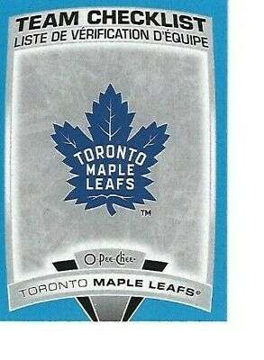 2019-20 Opc Toronto Maple Leafs Parallel Blue Checklist 577