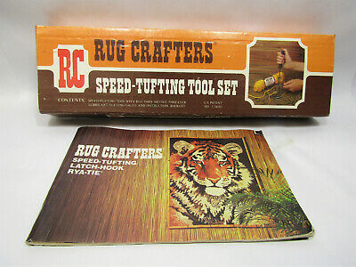 Vintage Speed Tufting Rug Crafters Tool Set in Box Instructions Gauge Booklet