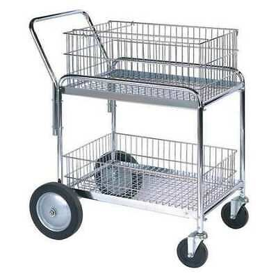 "PARTNERS BRAND WS1035 Mail Cart,33 1/2""x23 3/4""x38 1/4"",Silver"