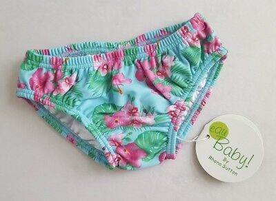MOTHERCARE Baby Girls Topical Floral Swim Pants by RHONA SUTTON 6 Months BNWT
