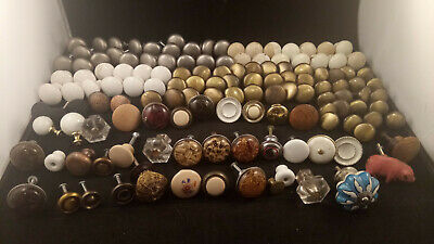 Lot of Mixed Vintage Assorted Cabinet and Door Pulls Knobs Handles