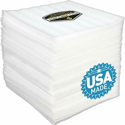 "50 Pack of Mighty Gadget Brand 12"" X 12"" Foam Wrap Sheets Cushioning for Moving"