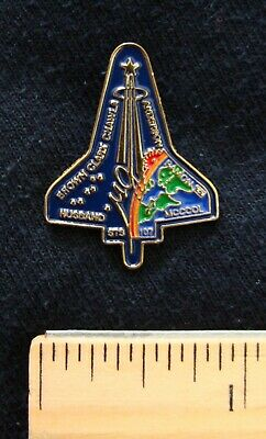 Space Program Shuttle Columbia Pendent Charm Lapel Pin STS107 NASA Astronaut New