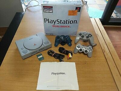 Sony PlayStation 1 PS1 Console With Box,  Controllers, Memory Card