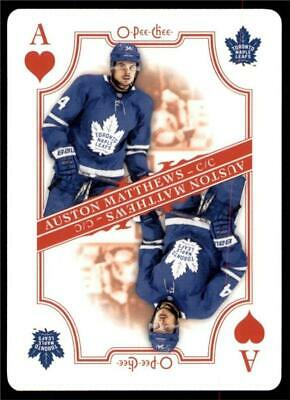 2019-20 UD O-Pee-Chee Playing Cards #A-HEARTS Auston Matthews - Maple Leafs