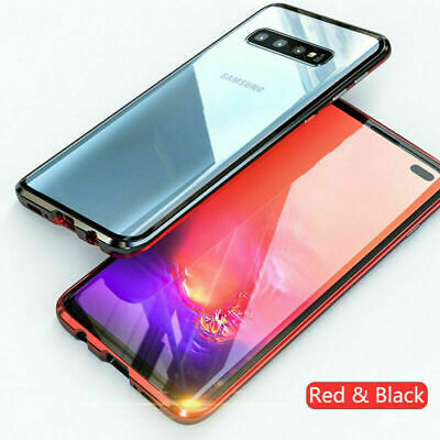 For Samsung S10 Plus S10E Magnetic Adsorption Full Tempered Glass Case Cover