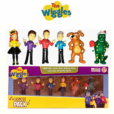 The Wiggles Figure Playset 6 Toys Simon Anthony Emma Lachy Wags Dorothy Topper