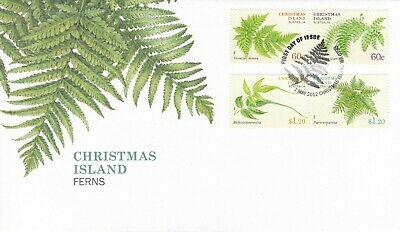 CI47) Christmas Island 2012 Ferns FDC First Day Cover