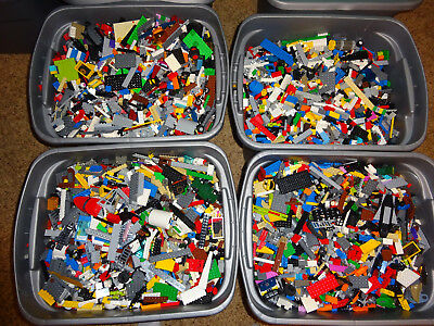 40 pounds LBS of Bulk Lego Cleaned Sanitized Bricks & other assorted pieces Lot
