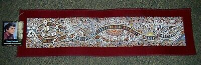 1990's Danny Eastwood Aboriginal Art Fabric Print - Rainbow Serpent (maroon)