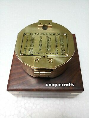 Designer Solid Brass Brunton Compass With Box Directional Gift.