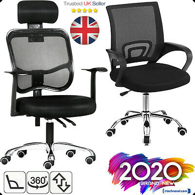 Executive Computer Desk Fabric Adjustable Swivel Office Mesh Chair 360° Designed