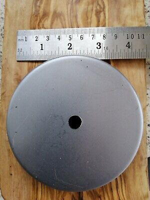 Raw Steel Ceiling Rose 102Mm Extra Heavy Duty Industrial Look British Made