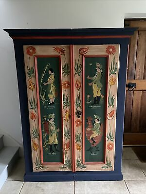 Antique Cupboard Authentic Marriage Armoire Kitchen Larder Toy Hall Cupboard