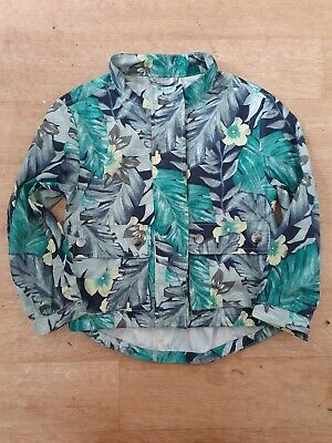 Gap girls tropical lightweight jacket age 4-5 years old. VGC