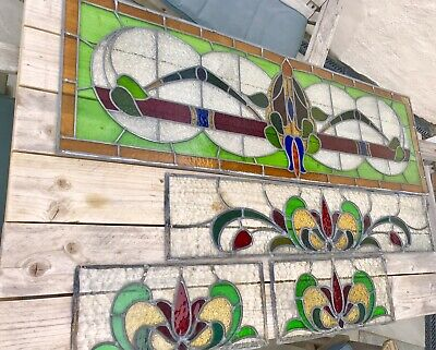 Stained Glass Window Panels Circa 1930s