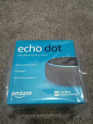 Cash on collection Only Bolton - Amazon Echo Dot 3rd Gen 2019 Charcoal Fabric