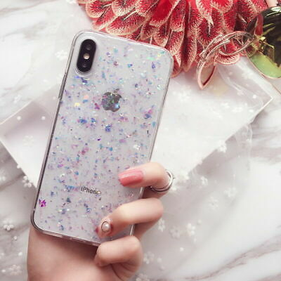 Bling Glitter Slim Clear Soft Case Phone Cover For iPhone Xs Max Xr 8 7 6s Plus