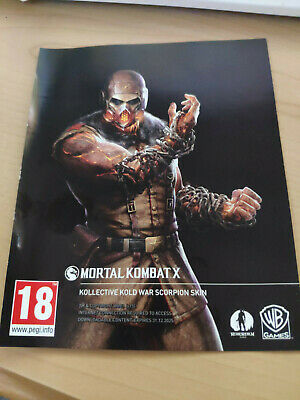 Mortal Kombat X Kollective Kold War Scorpion Skin *DLC* Code PS4