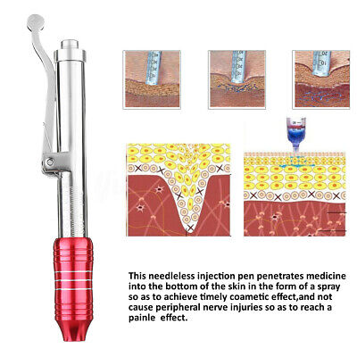 Rouge Hyaluron Stylo Acide Hyaluronique Non Invasif Seringue Injection