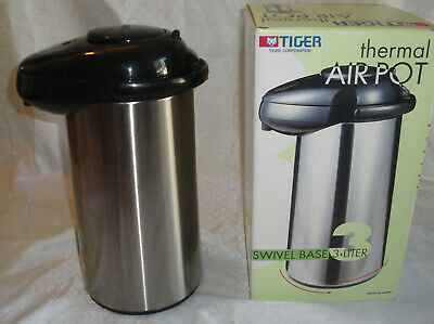 TIGER Thermal Air Pot,Thermos Hot Cold Beverage Pump,3 Liter,Coffee Dispenser