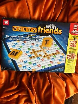 HASBRO / ZYNGA full Size CLASSIC – WORDS WITH FRIENDS BOARD GAME 2-4 Players 13+