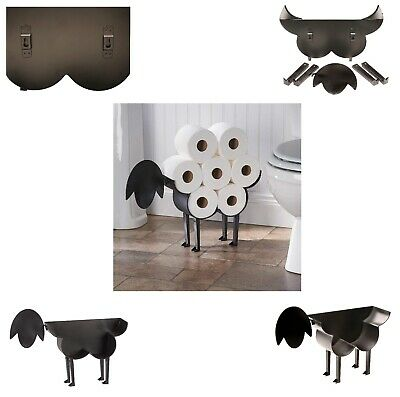 New Black Sheep Toilet Roll Paper Holder Free Standing Bathroom Tissue Storage
