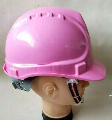 Safety Helmet HDPE PINK Work-wear Building Construction Site Ladies Adjustable