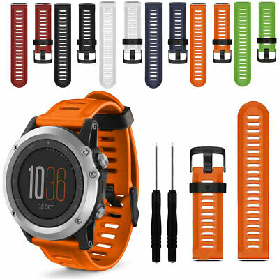 For Garmin Fenix 6 / 6X Pro Solar Soft Silicone Quick Easy Fit Watch Band Strap