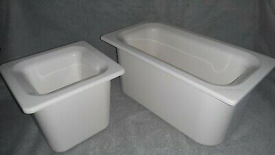 "Carlisle CM1102C-1/3 & 1104- 1/6 Coldmaster CoolCheck 6"" Deep Insulated Food Pan"