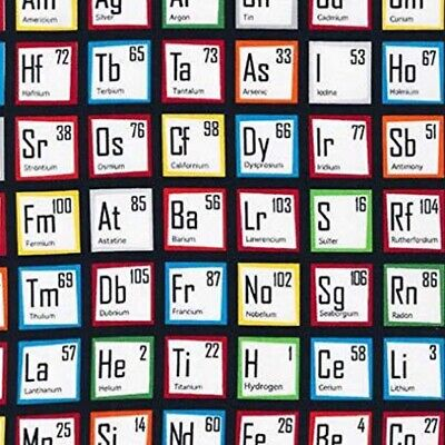 Science Fair Periodic Table Cotton Fabric Remnant