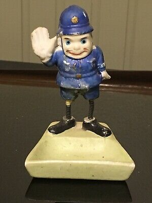 Vintage Bisque Brownie Police Man Officer Trinket Tray Ashtray Palmer Cox?