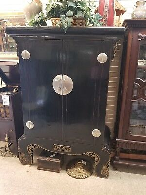 antique  oriental asian cabinet armoire