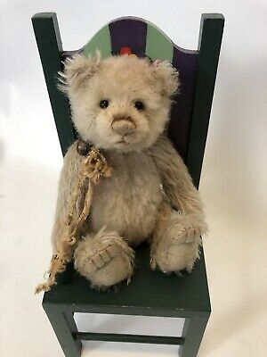 Dinky Minimo Charlie Bears 🐻 jointed mohair! LE 2000. 7 inches