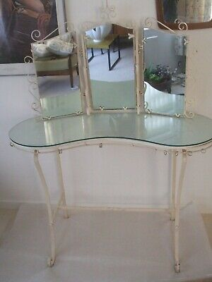 Rare Vintage Antique French Dressing Table Triple Mirror