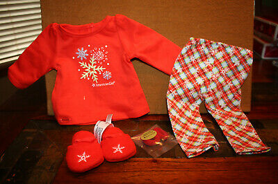 """American Girl Doll Truly Me Holiday Dreams Pajamas For 18"""" Doll New In Box"""
