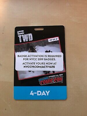 New York Comic Con 4 Day Pass NYCC 2019 Javits NYC Badge Ticket SOLD OUT In hand