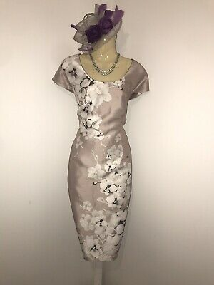 JACQUES VERT Size 16 BNWT Dress Floral Nude Mother Of The Bride Wedding Races