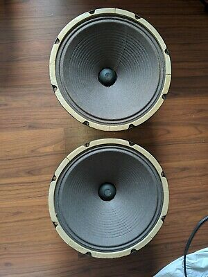 2 Vintage Jensen P12RJ Woofers from Fisher Console