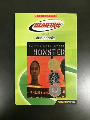 """Audiobook """"Monster"""" by Walter Dean Myers (Read180 Stage C Scholastic books)"""