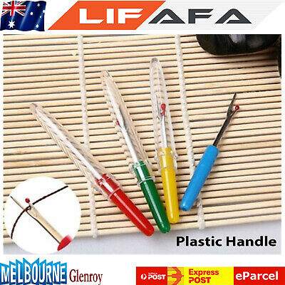 4PCS Stitch Unpicker Seam Ripper Thread Cutter Plastic Handle Sewing Tool LF