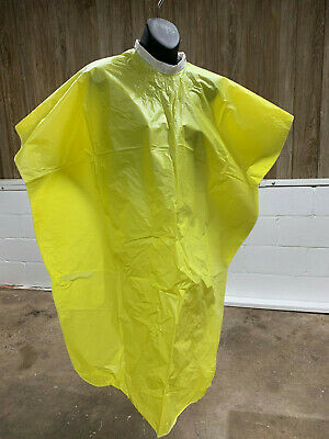 Vintage 1960s Diane Yellow Vinyl Salon Shampoo Cape with Ties NEW 36x54