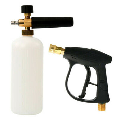 High Pressure Washer Jet Snow Foam Lance Bottle 1/4 Quick Connect Car Cleaner #