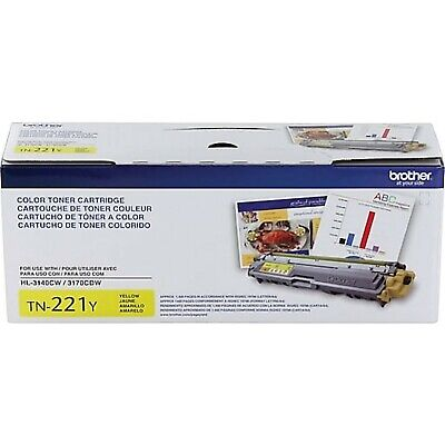 Genuine OEM Brother TN221Y Yellow Toner Cartridge Laser Series HL MFC  NEW - UNS